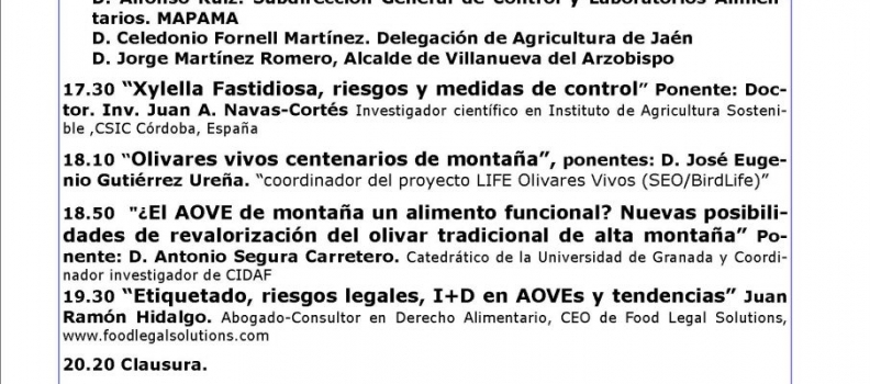 Villanueva del Arzobispo acoge las II Jornadas del Olivar Tradicional de Montaña