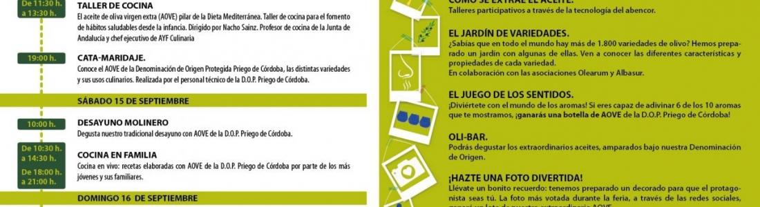 El Pabellón del Aceite reunirá en Agropriego actividades en torno al aceite de oliva con DOP Priego de Córdoba