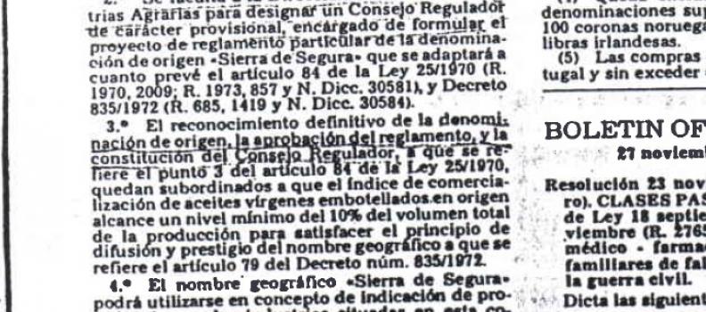 La Denominación de Origen Sierra de Segura cumple 40 años