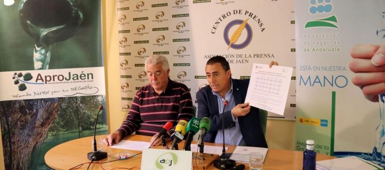 APROJAÉN y AREDA denuncian que la CHG discrimina al olivar de Jaén al reducir la dotación de los riegos extraordinarios