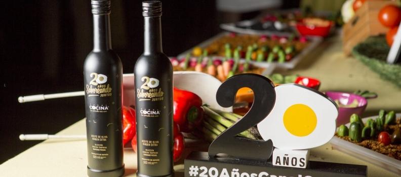 El  aceite de Sierra Mágina acompaña el 20 aniversario de Canal Cocina
