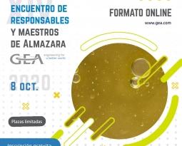 El XIV Encuentro de Maestros y Responsables de Almazara de GEA se celebrará de forma online el 8 de octubre