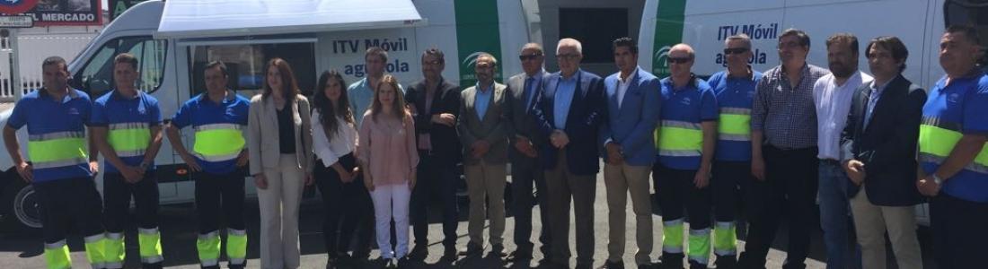 La Junta refuerza el servicio de ITV para vehículos agrícolas con unidades móviles en Úbeda, Jerez y Baza