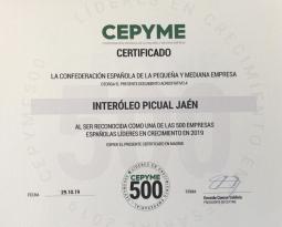 Grupo Interóleo recibe un premio de Cepyme como una de las 500 empresas españolas