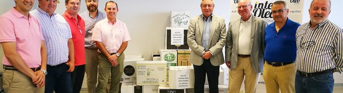 Interóleo entrega al Banco de Alimentos 703 litros de AOVE