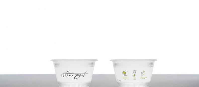 Grupo Interóleo se suma a la cata responsable de aceite de oliva con los nuevos vasos biodegradables de Elaia Zait