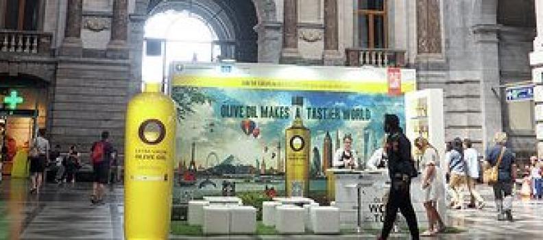 Julio, el mes de los aceites de oliva en la Estación Central de Amberes