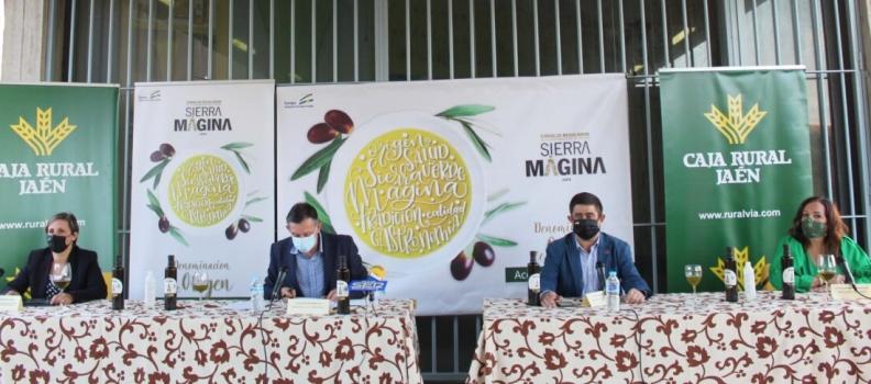 Reyes celebra la calidad del aceite de oliva de Sierra Mágina en el inicio de una campaña que se prevé media-alta