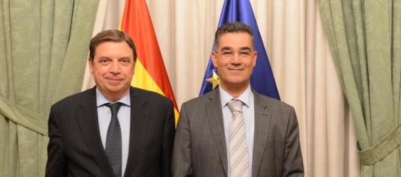 El ministro de Agricultura y el director del COI repasan asuntos del sector del olivar y del aceite de oliva