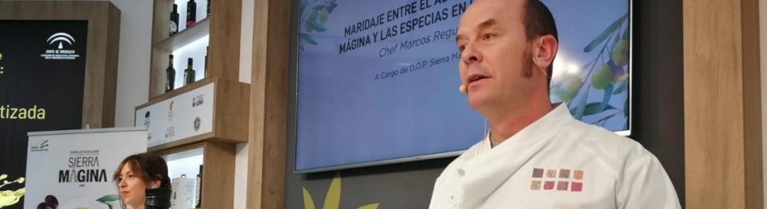 Los AOVES de Sierra Mágina y Priego de Córdoba, protagonistas culinarios en el stand de la Junta en Expoliva