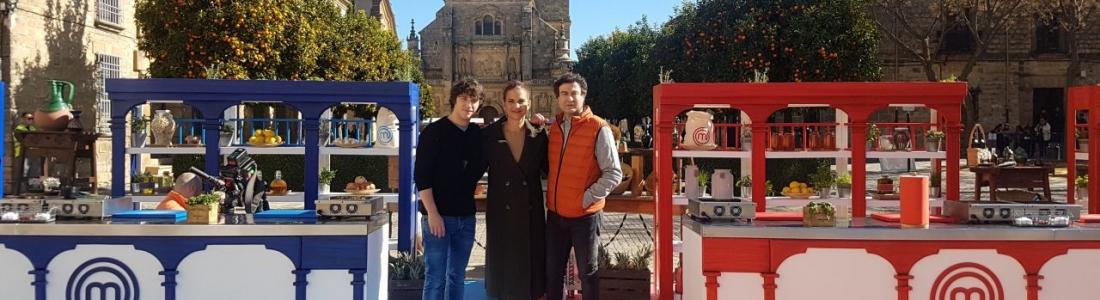"""Úbeda promociona su patrimonio monumental y las bondades del AOVE en la grabación de """"Masterchef"""""""
