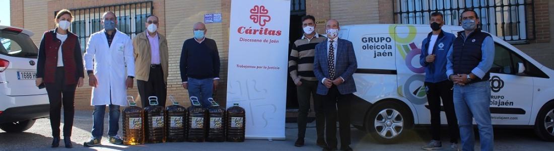 Grupo Oleícola Jaén dona a Cáritas 250 litros de aceite de orujo de oliva