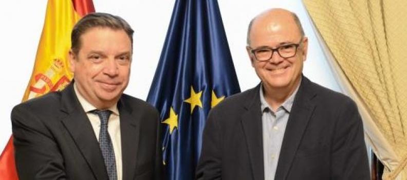 Luis Planas analiza con el presidente de Seiasa la situación del regadío en España