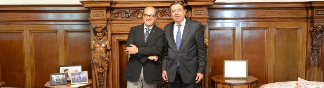 Luis Planas se reúne con el vicepresidente de la Comisión de Agricultura y Desarrollo Rural del Parlamento Europeo