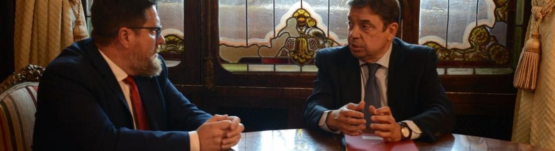 Luis Planas analiza los aranceles a la aceituna de mesa con el consejero de Agricultura de Andalucía