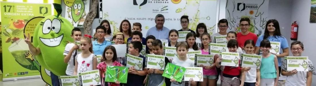 La DO Priego de Córdoba clausura la séptima edición de la Escuela de Cata Infantil con la Fiesta del AOVE