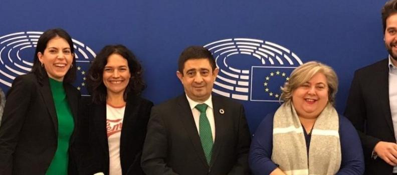 Reyes defiende en Bruselas una PAC justa con el olivar, con Jaén y con los pequeños y medianos agricultores