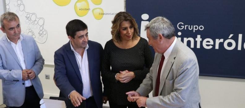 Susana Díaz defiende precios justos para el aceite de oliva y valora la iniciativa de Interóleo de aglutinar la oferta