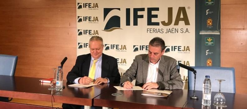 Convenio entre Ferias Jaén y la WOOE para ampliar la proyección de Expoliva como evento de referencia internacional