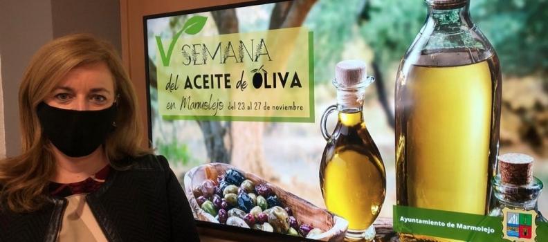 El Ayuntamiento de Marmolejo celebrará del 23 al 27 de noviembre la V Semana del Aceite