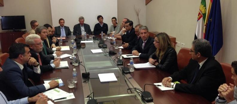 El Gobierno de Extremadura muestra su apoyo al sector de la aceituna de mesa