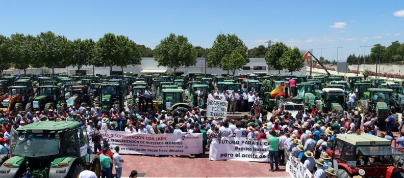 Tractorada de agricultores en Úbeda para pedir soluciones al precio del aceite de oliva y a la regulación de regadíos