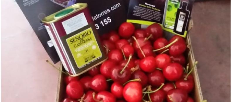 Torres promociona el AOVE y las cerezas de forma conjunta