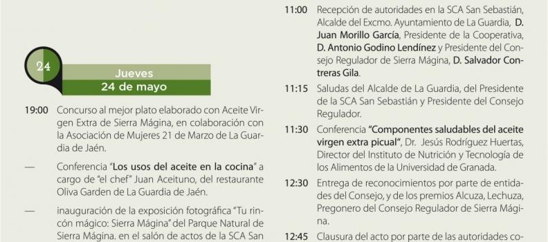 La Guardia acogerá el sabado la XIX Fiesta del Olivar y del Aceite de Oliva Virgen Extra de Sierra Mágina