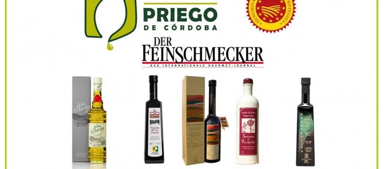 Una guía alemana de productos gourmet incluye cinco aceites de la DOP Priego de Córdoba