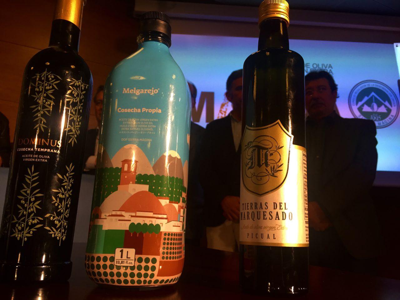 Dominus, Melgarejo y Tierras del Marquesado, premio a los mejores aceites de la DO Sierra Mágina