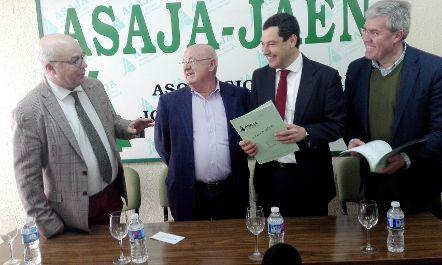 ASAJA-Jaén traslada al presidente del PP andaluz los problemas del sector agrícola