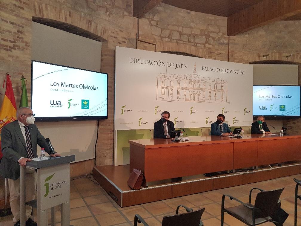 """La Diputación Provincial, la Universidad de Jaén y Caja Rural organizan """"Los Martes Oleícolas"""", que se desarrollarán de forma virtual del 27 de abril al 22 de junio"""