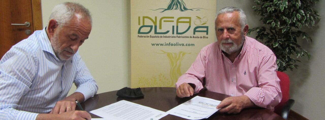Infaoliva firma un convenio de colaboración con Andullana de Pinturas