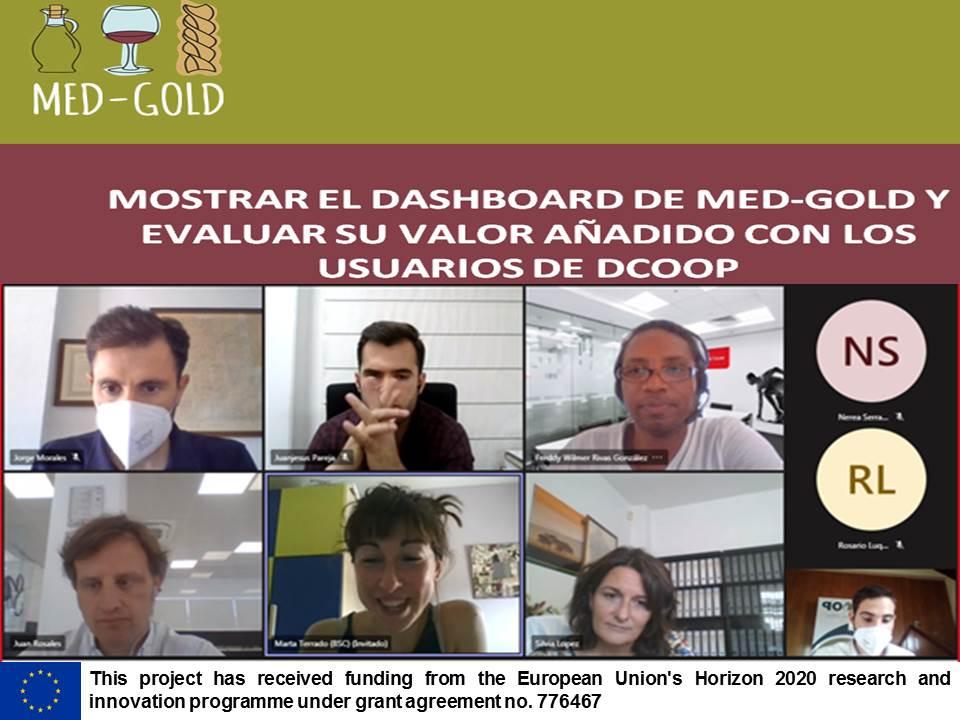 Dcoop evalúa el valor añadido del Dashboard de MED-GOLD para el olivar