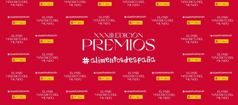 El Ministerio de Agricultura entrega mañana la XXXIII edición de los Premios Alimentos de España