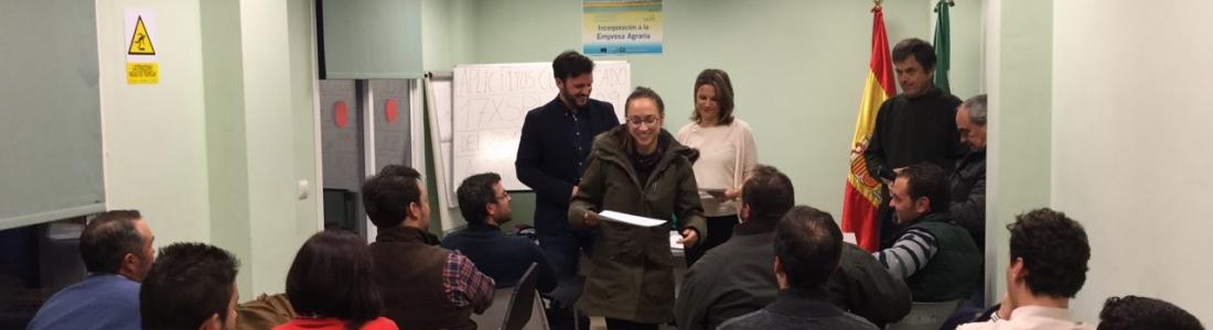 Jóvenes de las OCAs de Linares y Andújar reciben 1,5 millones para su incorporación al campo