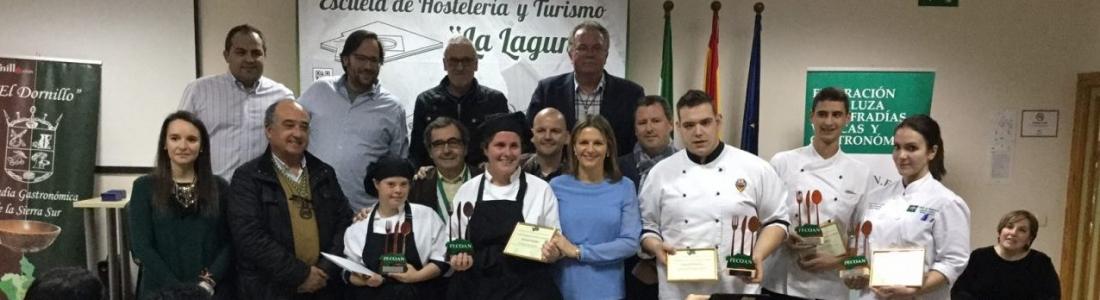 María Miguel y Tania Cáceres ganan el IV Concurso Andaluz de Jóvenes Cocineros celebrado en la Escuela Hacienda La Laguna