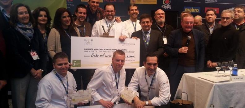 El chef Juan Carlos Trujillo, de «Canela en rama», gana el Premio Internacional de Cocina con Aceite de Oliva Virgen Extra «Jaén, paraíso interior»