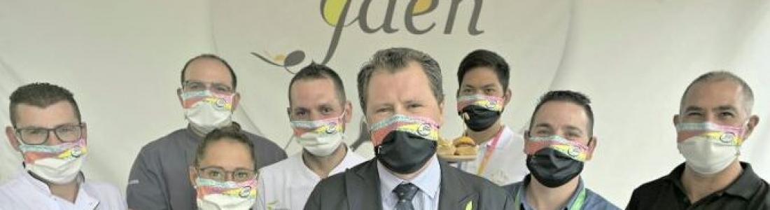 Ocho chefs de restaurantes Degusta Jaén participan en los showcookingcelebrados en la zona gastronómica de Expoliva